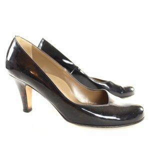 Anyi Lu Emily Black Patent Heels